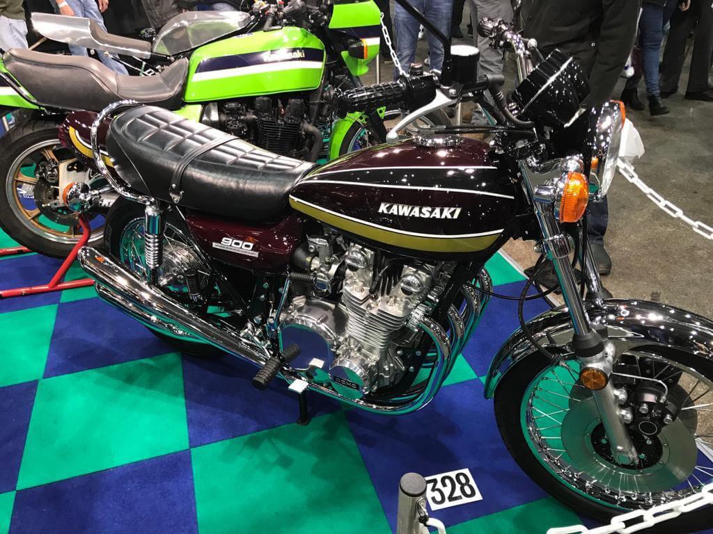 Carole Nash Show 2019 Thorneycroft motorbike on show