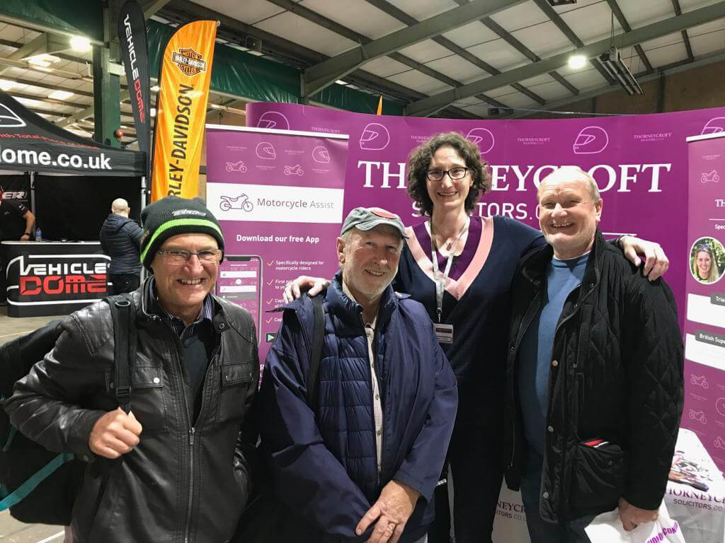 Carole Nash Show 2019 Thorneycroft team with visitors