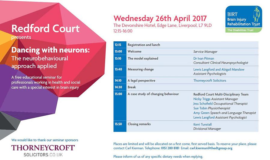 Brain Injury Rehabilitation Trust seminar