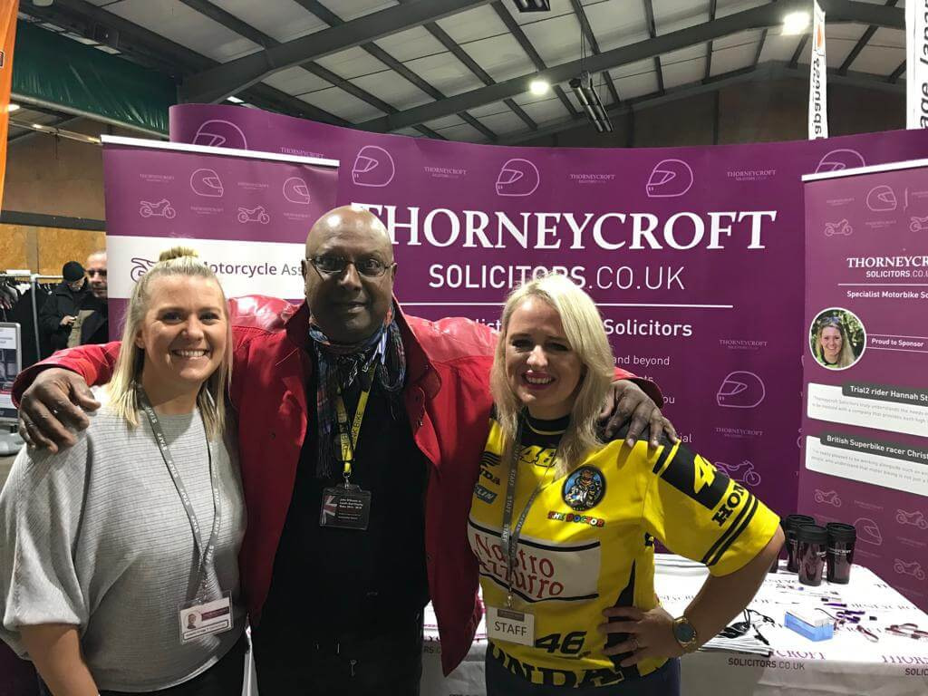 Carole Nash Show 2019 Thorneycroft and other stand holders