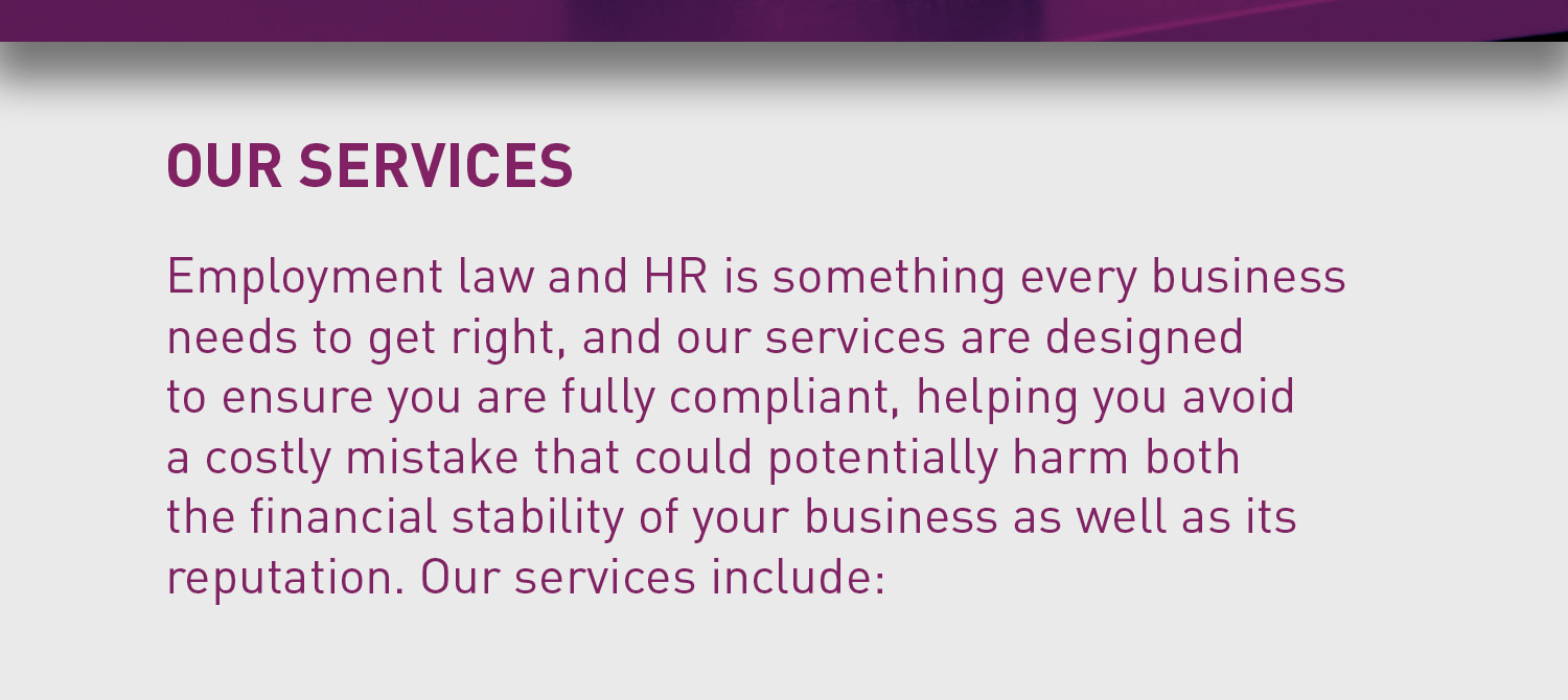 Thorneycroft Employment law and HR packages our services listing