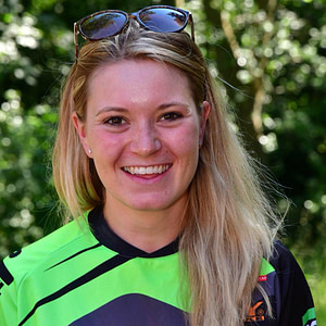 An image of trial bike rider Hannah Styles