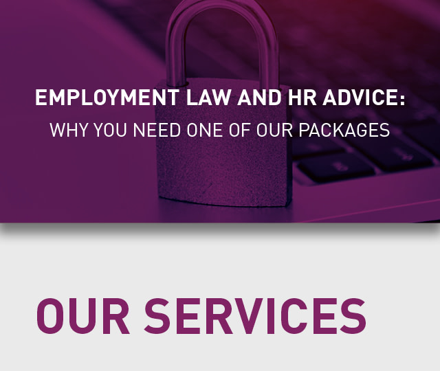 Employment law and HR infographic title
