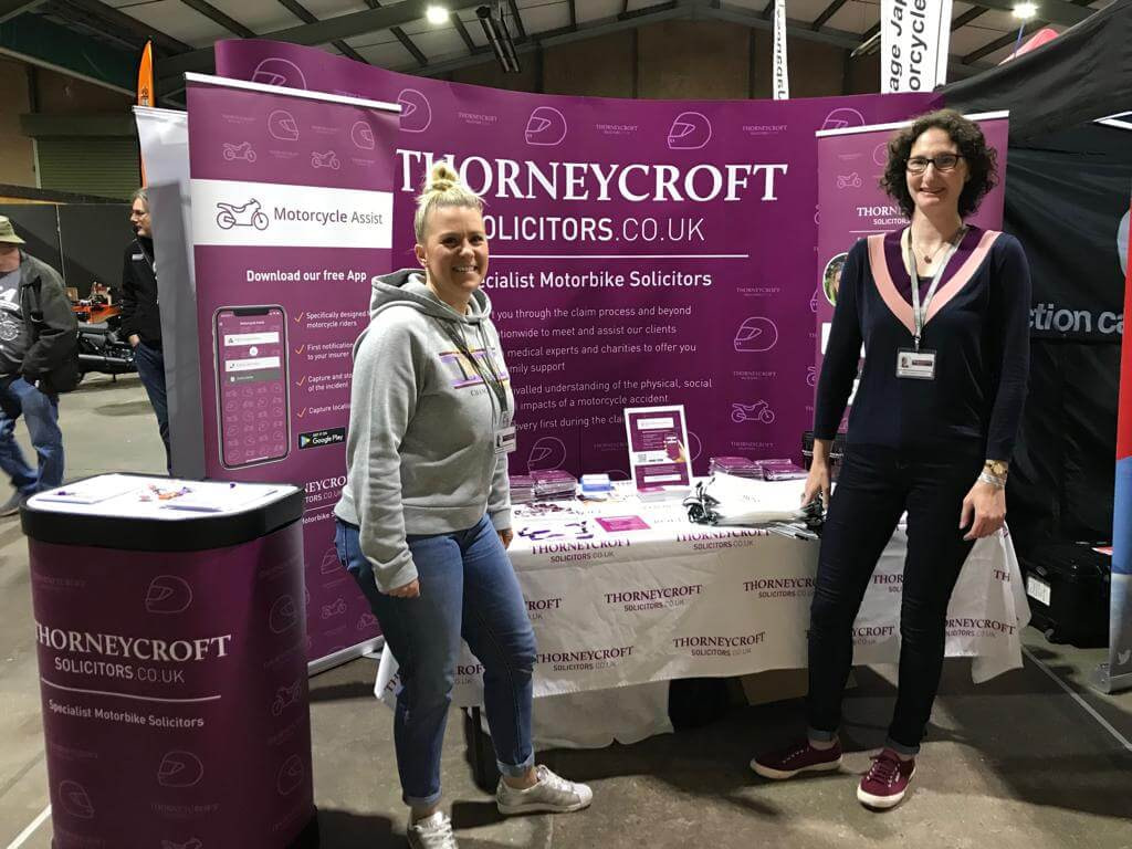 Carole Nash Show 2019 Thorneycroft team at their stand