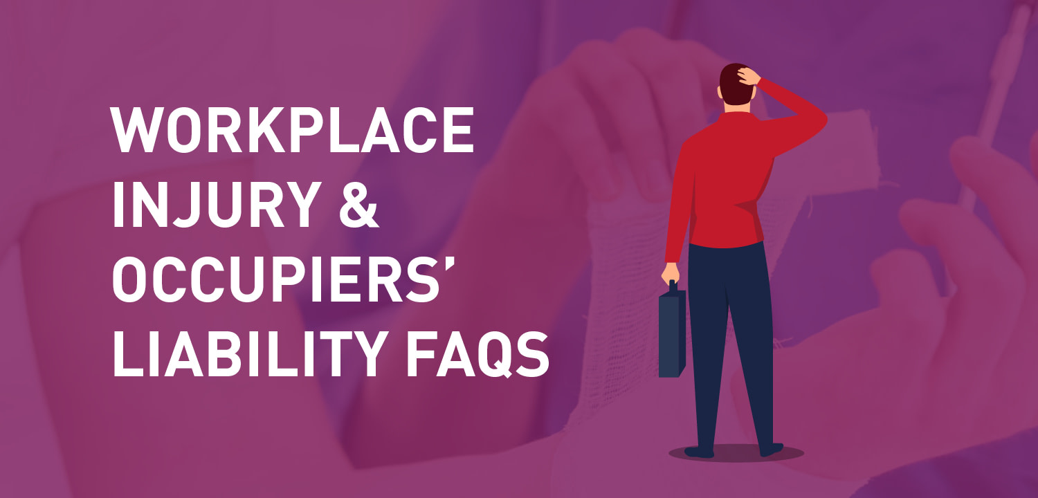 workplace injury and occupiers' liability infographic title