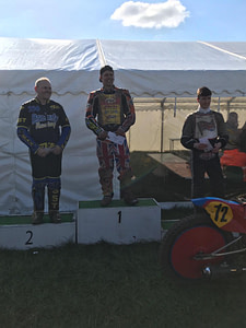 Podium at Gawsworth Cheshire Grasstrack Club
